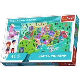 TREFL Puzzle Mapa Ukrajiny 44 dílků