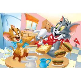 TREFL Puzzle pro děti  100 dílků - Tom a Jerry: Vynikající snídaně