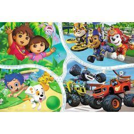 TREFL Puzzle Nickelodeon: Nejlepší pohádky 100 dílků