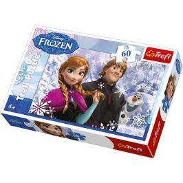 TREFL Puzzle pro děti  60 dílků - Ledové království: Anna a Kristof