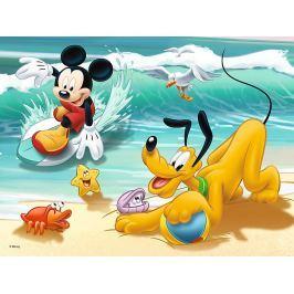 TREFL Puzzle pro děti  30 dílků - Mickey a Pluto na pláži