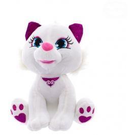EURO BABY Plyšová kočička  30cm - bílá