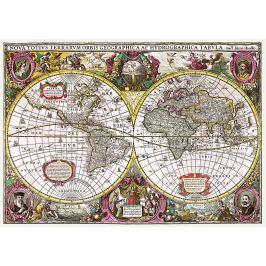 TREFL Puzzle Historická mapa světa r. 1630, 2000 dílků