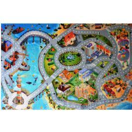 Dětský koberec Ultra Soft Město s pláží, 130 x 180 cm (86031)
