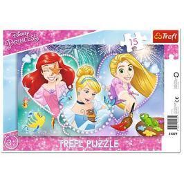 TREFL Puzzle Disney Princezny: Úsměvy princezen 15 dílků