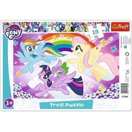 TREFL Puzzle My Little Pony: Poníci při hře 15 dílků