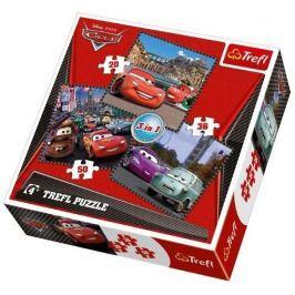 TREFL Puzzle pro děti 3v1  - Auta (Cars): Cesta kolem světa 20,36,50 dílků