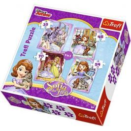 TREFL Puzzle pro děti 4v1 - Princezna Sofie První (35 - 70 dílků)