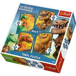TREFL Puzzle Puzzle Hodný dinosaurus 4v1 (35 - 70 dílků)