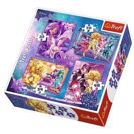 TREFL Puzzle pro děti 4v1 - Star Darlings (35 - 70 dílků)