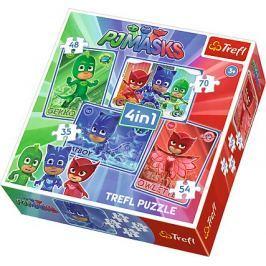 TREFL Puzzle Pyžamasky: Jsme tým 4v1 (35,48,54,70 dílků)