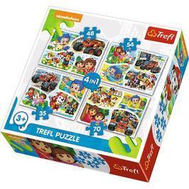 TREFL Puzzle Nickelodeon: Zábava pro každého 4v1 (35,48,54,70 dílků)