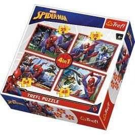 TREFL Puzzle Spiderman: V pavoučí síti 4v1 (35,48,54,70 dílků)