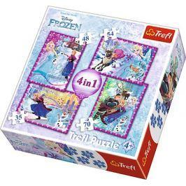 TREFL Puzzle Ledové království: Zimní radovánky 4v1 (35,48,54,70 dílků)