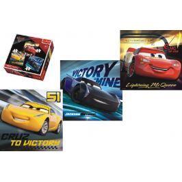 Trefl Puzzle 3v1 Auta/Cars 3 Disney 20,50,36 dílků v krabici 28x28x6cm