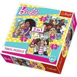 TREFL Puzzle Barbie: Pravé přátelství 3v1 (20,36,50 dílků)