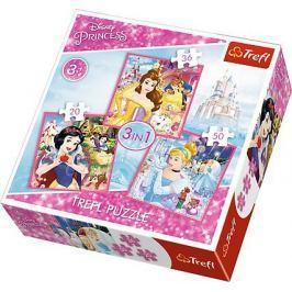 TREFL Puzzle Disney princezny: Kouzelný svět 3v1 (20,36,50 dílků)