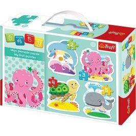 TREFL Puzzle pro nejmenší  - Baby puzzle Mořští živočichové (4v1)