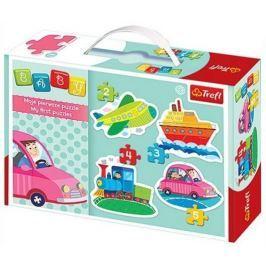 TREFL Puzzle pro nejmenší  - Baby puzzle Dopravní prostředky (4v1)