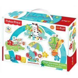 TREFL Puzzle pro nejmenší  - Baby puzzle Fisher Price Roztomilá zvířátka (4v1)