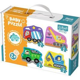 TREFL Baby puzzle Vozidla na stavbě 4v1 (3, 4, 5 a 6 dílků)