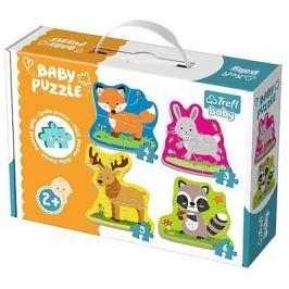 TREFL Baby puzzle Zvířata v lese 4v1 (3,4,5,6 dílků)