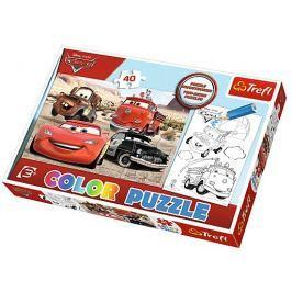 TREFL Puzzle pro děti (oboustranné)  40 dílků - Auta
