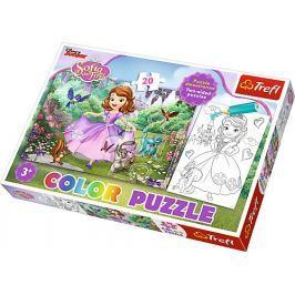 TREFL Puzzle pro děti (oboustranné)  20 dílků - Sofie První