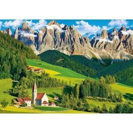 TREFL Puzzle  500 dílků - Kostel pod horami, Dolomity