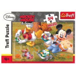 TREFL Dětské puzzle  54 dílků - Mickey Mouse: Autíčka