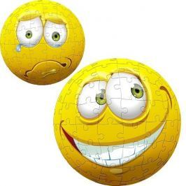 TREFL Puzzle Face Ball  96 dílků - Žlutý obličej