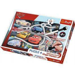 TREFL Puzzle s magickým fixem  75110 Auta 70 dílků