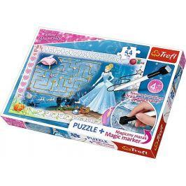 Trefl Puzzle s magickým fixem  75112 Disney princezny: Popelka 54 dílků