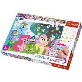TREFL Puzzle se samolepkami  75116 My Little Pony 35 dílků