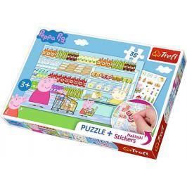 TREFL Puzzle se samolepkami  75117 Prasátko Peppa 35 dílků