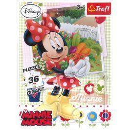 TREFL Dětské puzzle  90487 Minnie v zahradě Gigant 36 dílků
