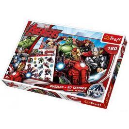 TREFL Puzzle pro děti  160 dílků + 20 tetování - Avengers - Sjednocení