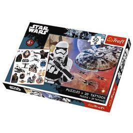 TREFL Puzzle pro děti  50 dílků + 20 tetování - Star Wars