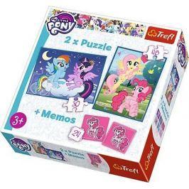 TREFL Dětské puzzle  30 + 48 dílků + pexeso My Little Pony
