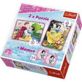 TREFL Dětské puzzle  30 + 48 dílků + pexeso Disney Sněhurka