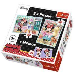TREFL Dětské puzzle  30 + 48 dílků + pexeso Minnie
