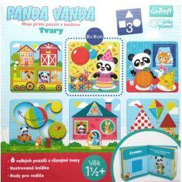Trefl Vkládačka Panda Vanda - Tvary + knížka