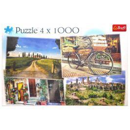 TREFL Puzzle Krásy Toskánska 4x1000 dílků