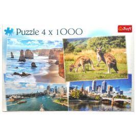 TREFL Puzzle Krásy Austrálie 4x1000 dílků