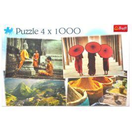 TREFL Puzzle Krásy Asie 4x1000 dílků