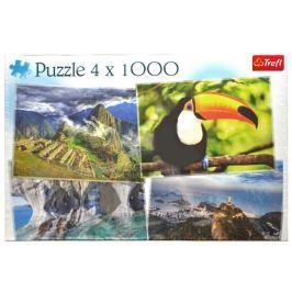 TREFL Puzzle Krásy Ameriky 4x1000 dílků