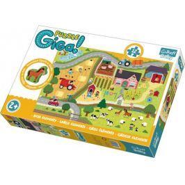 TREFL Puzzle Venkov GIGANTIC 12 dílků + dřevěná figurka