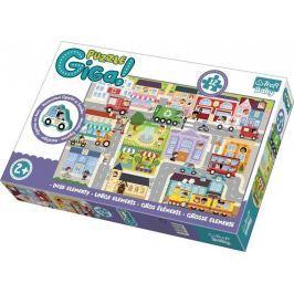 TREFL Puzzle Město GIGANTIC 12 dílků + dřevěná figurka