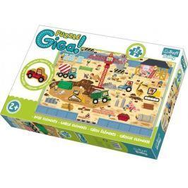 TREFL Puzzle Staveniště GIGANTIC 12 dílků + dřevěná figurka
