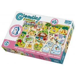 Trefl Puzzle zvířátka Gigantic ZOO 12ks v krabici 40x27x6cm 2+